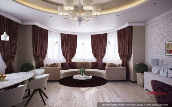 Красивые интерьеры в современной классике. Дизайн гостиной