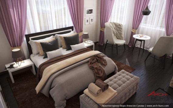 Женский интерьер классической спальни
