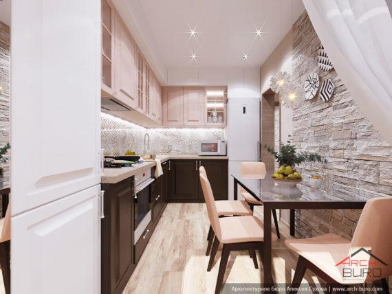 Дизайн интерьера в светлых тонах. Кухня