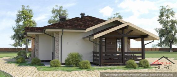 Проект одноэтажного тёплого дома
