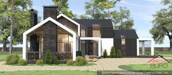 Проект дома в стиле Barn house