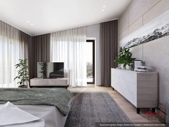 Спальня европейского дома