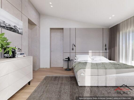 Спальня европейского дома. Дизайн