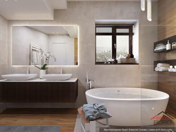 Дизайн санузла при спальне. Европейский дизайн