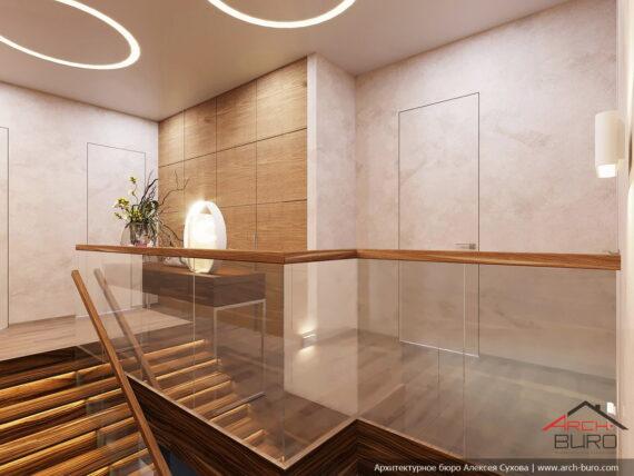 Дизайн холла 2-го этажа