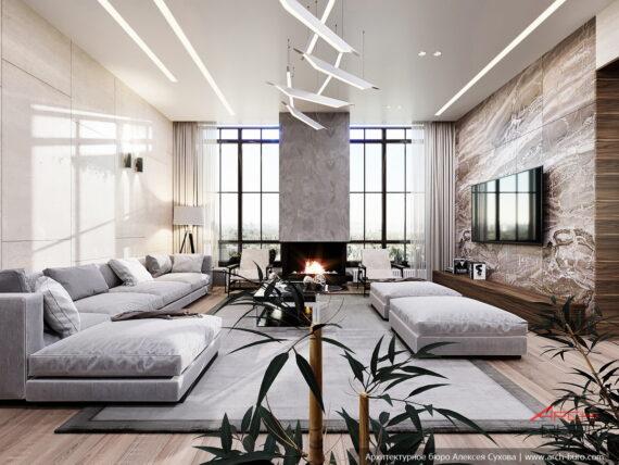 Гостиная. Дизайн европейского дома