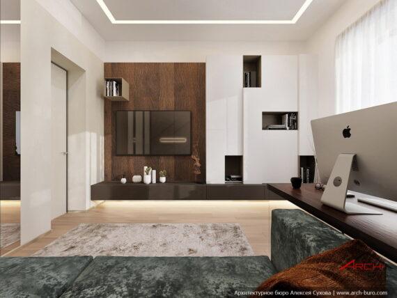 Дизайн кабинета на 1-м этаже