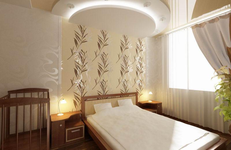 Дизайн интерьера спальной комнаты для