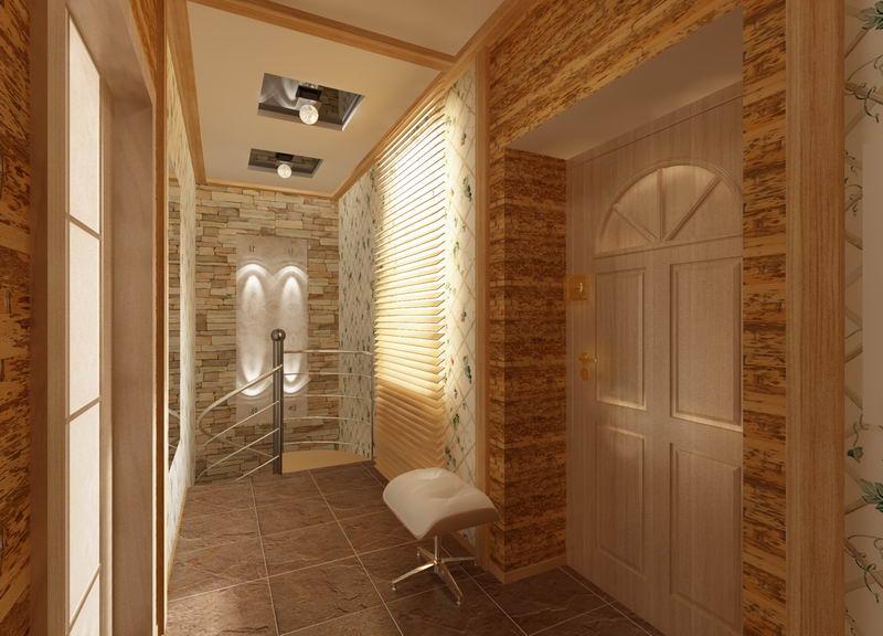 Дизайн проект тамбура в 2 х этажном