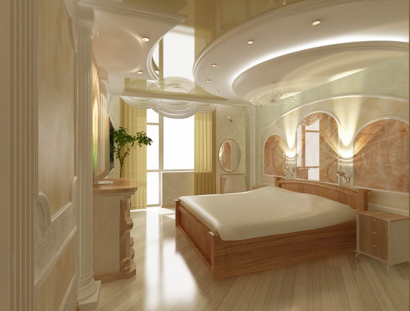 дизайн спальня в классическом стиле фото
