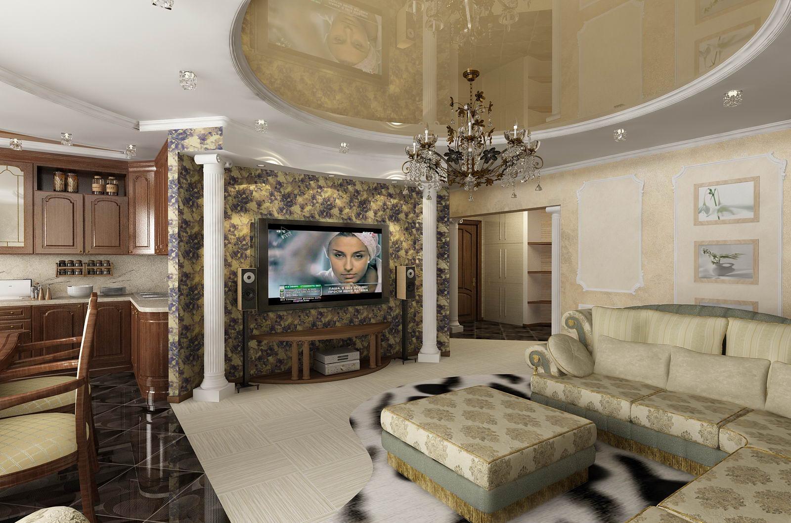 Дизайн классического интерьера гостиной фото