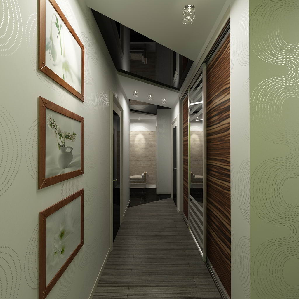 Дизайн интерьера прихожей коридора