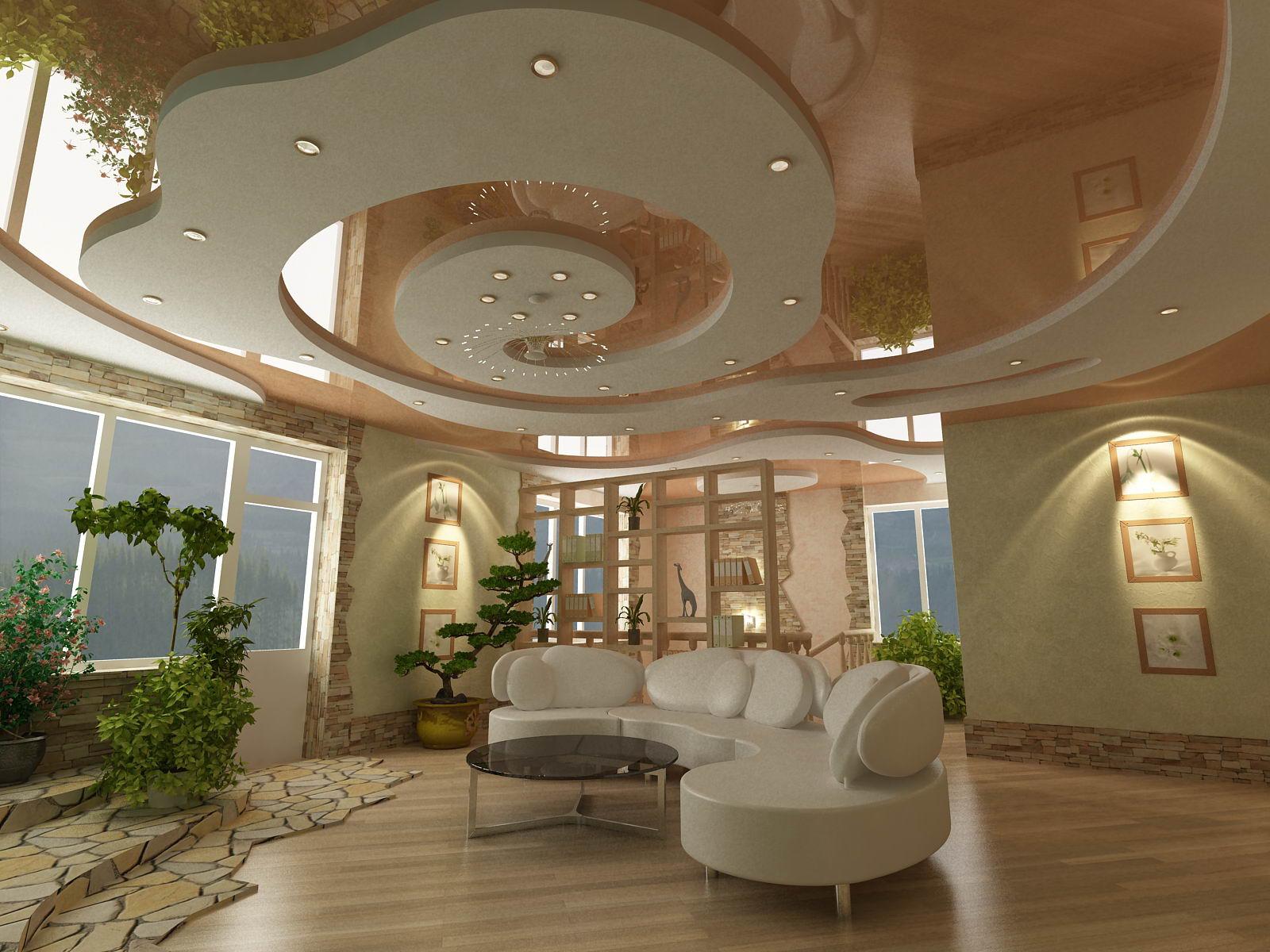 Дизайн интерьера холла 2 х этажного
