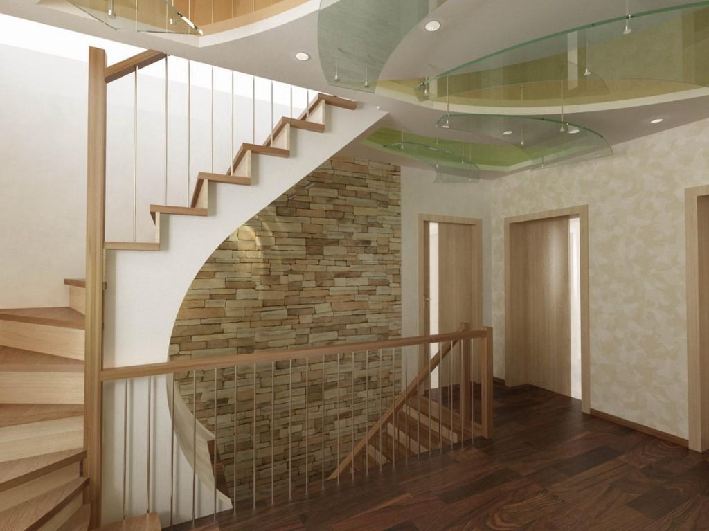 Лестница в цокольный этаж фото