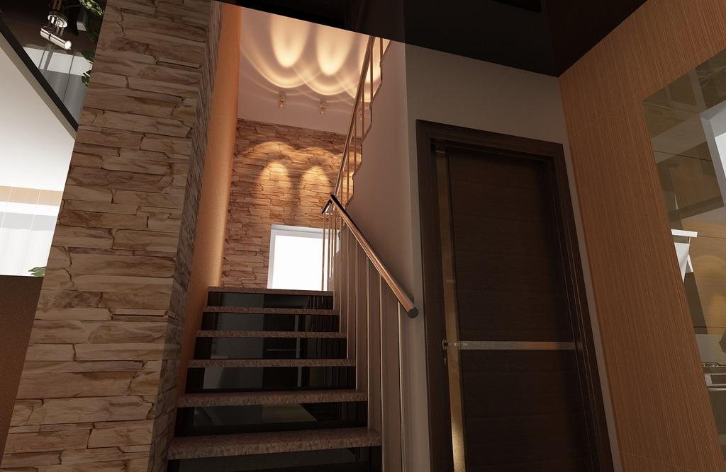 Дизайн дома с мансардой с лестницей