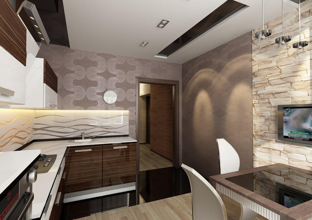 Дизайн кухни в однокомнатной квартиры фото