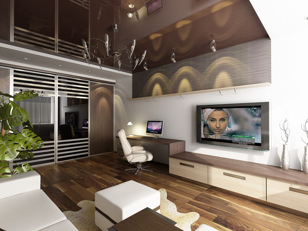 Данный дизайн однокомнатной квартиры