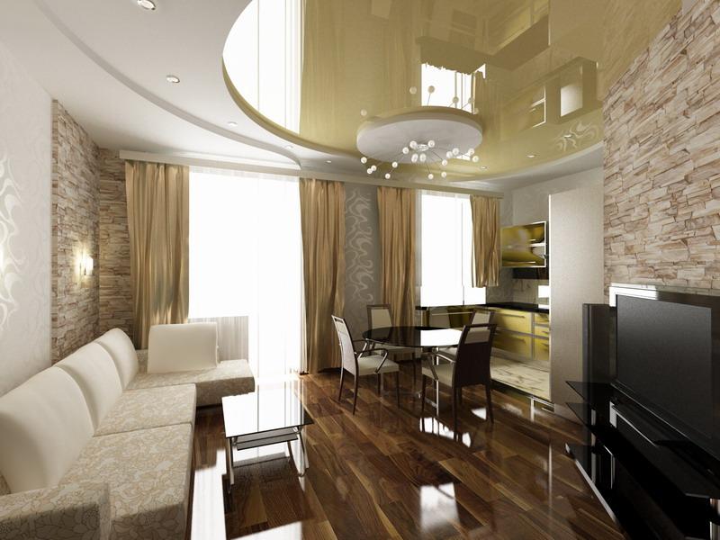 Дизайн кухни 3 4 фото