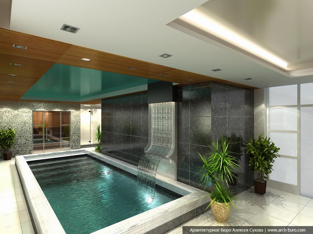 Дизайн бассейнов в коттедже
