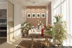 Дизайн квартиры в таунхаусе. Зимний сад. (комната для игры в покер)