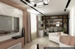 Дизайн гостиной, кухни-столовой
