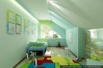 Спальня маленького мальчика. Дизайн интерьеров коттеджа