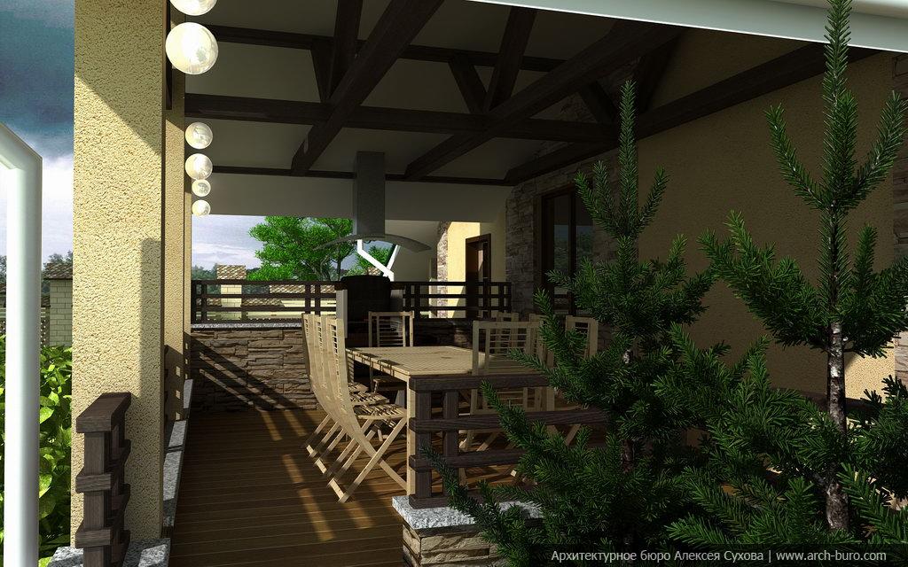 Архитектурный проект бани с
