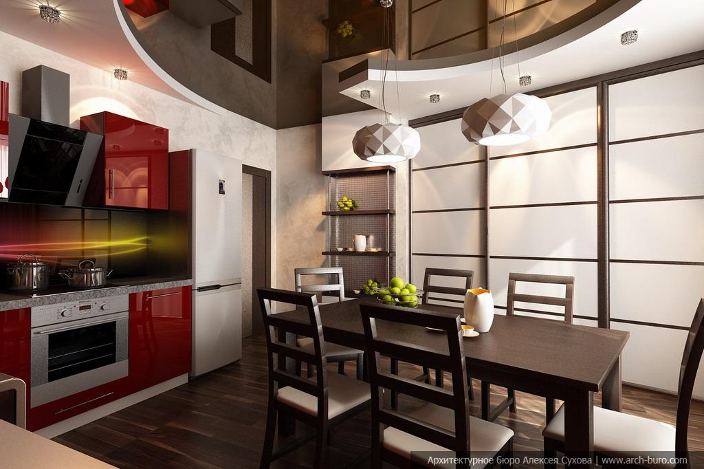 Дизайн проект кухня-столовая