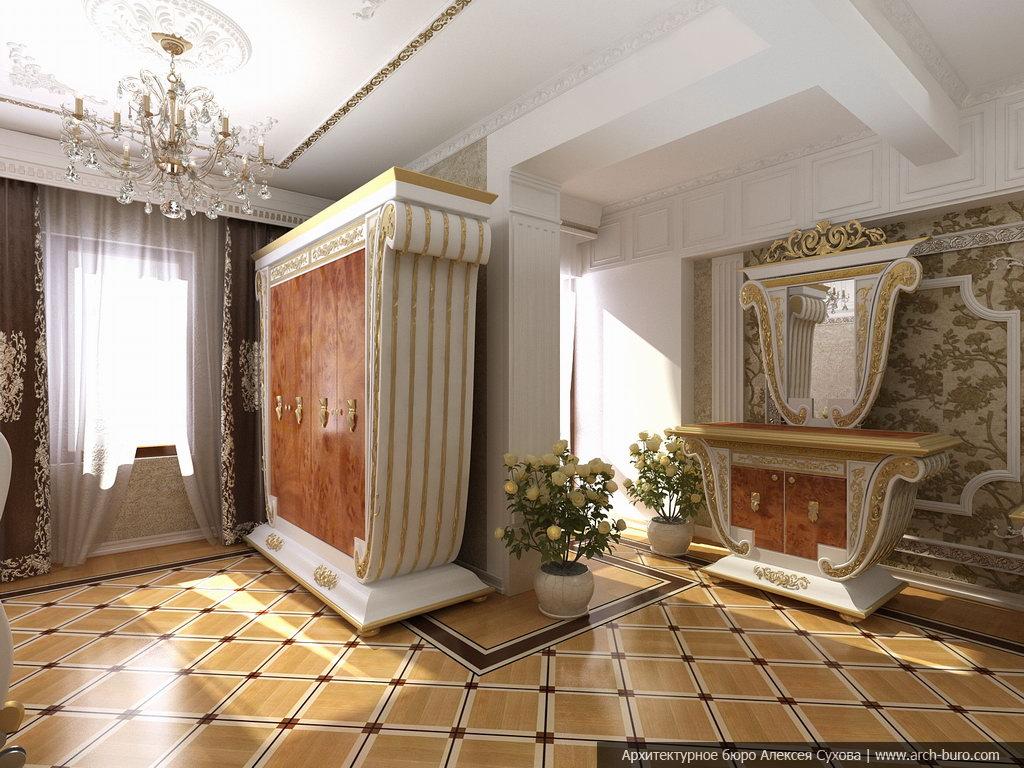 классический интерьер спальни фото