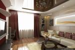 Дизайн квартиры в современном стиле. Интерьер гостиной