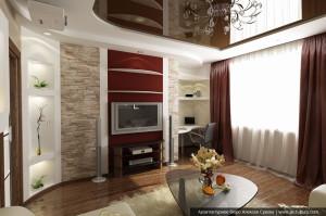 Дизайн квартиры в современном стилеДизайн квартиры в современном стиле. Интерьер гостиной