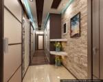 Дизайн квартиры в современном стиле. Интерьер прихожей