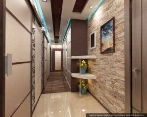 Дизайн квартиры в современном стилеДизайн квартиры в современном стиле. Интерьер прихожей