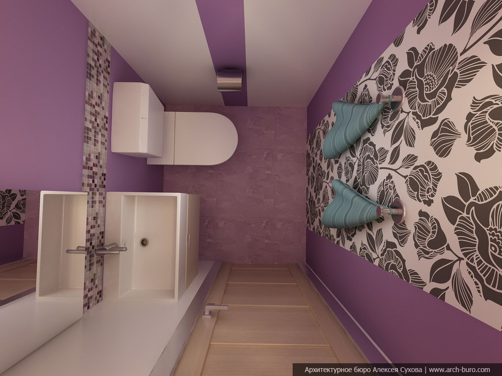 Ремонт в туалете обоями фото