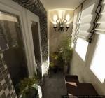 Дизайн квартиры в современном стиле. Интерьер утеплённого балкона