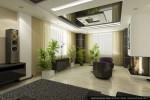 Дизайн интерьера дома-коттеджа. Гостиная-каминная