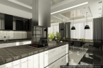 Дизайн интерьера дома-коттеджа. Кухня-столовая