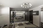 Дизайн интерьера дома-коттеджа. Цокольный этаж. Тренажерная