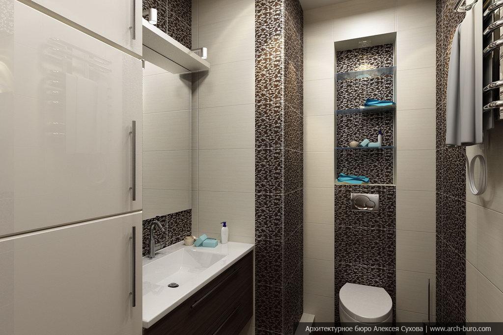 Дизайн туалета гостевого