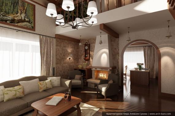 Дизайн домов коттеджей
