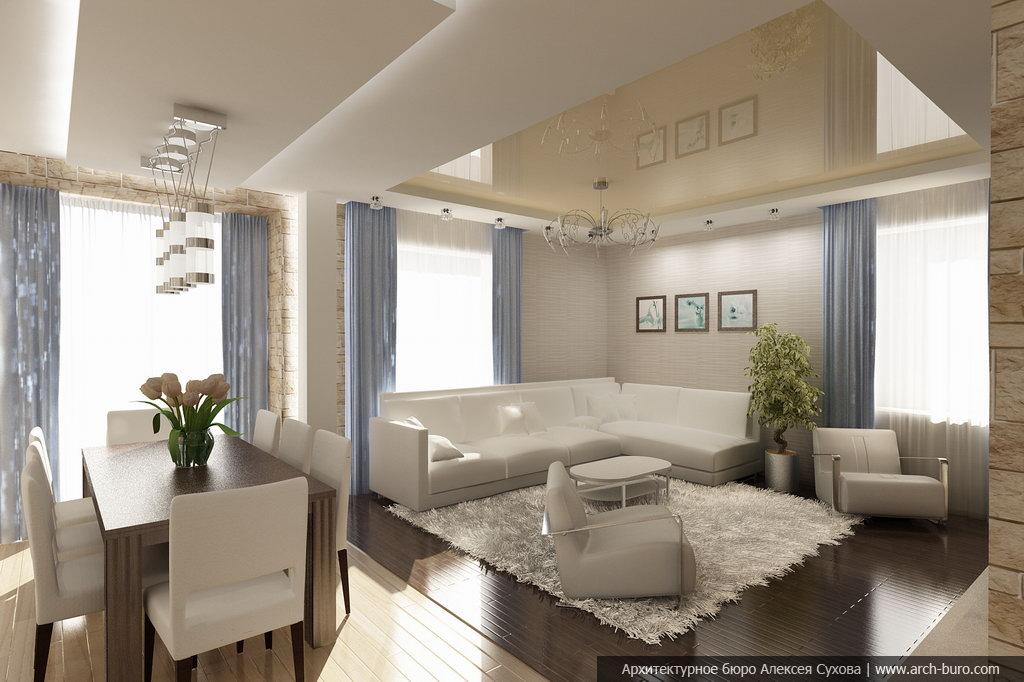 Дизайн кухней гостиной совмещенной в современном стиле
