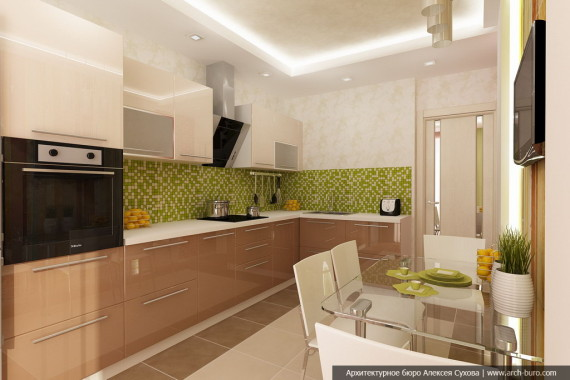 Фото интерьера кухни 10 м кв
