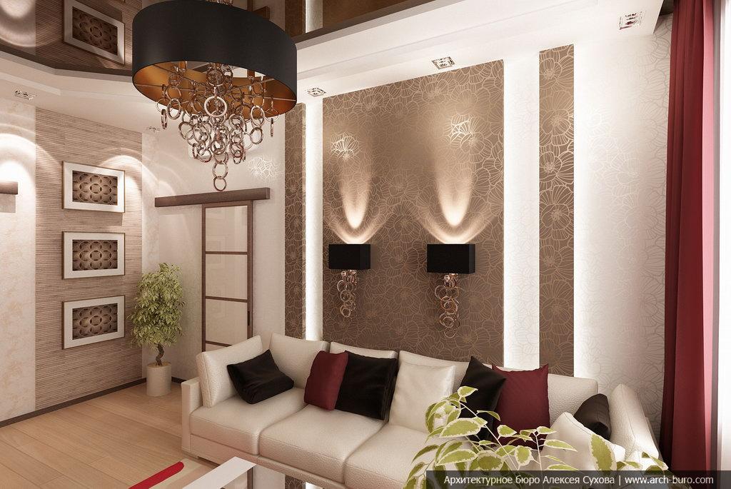 Зал 18 кв.м с аркой дизайн