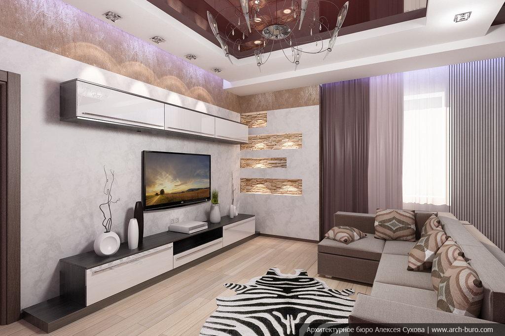 Готовые проекты оформления гостиной с совмещением балкона..