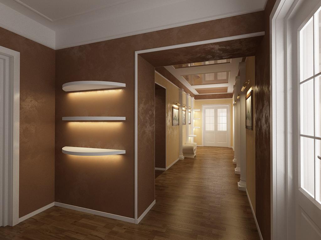 Интерьер коридора с аркой в квартире фото