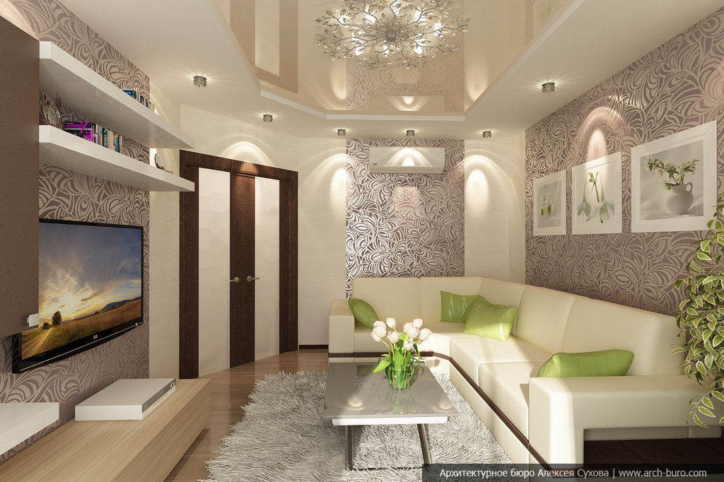 Интерьер гостиной эконом класса современный дизайн