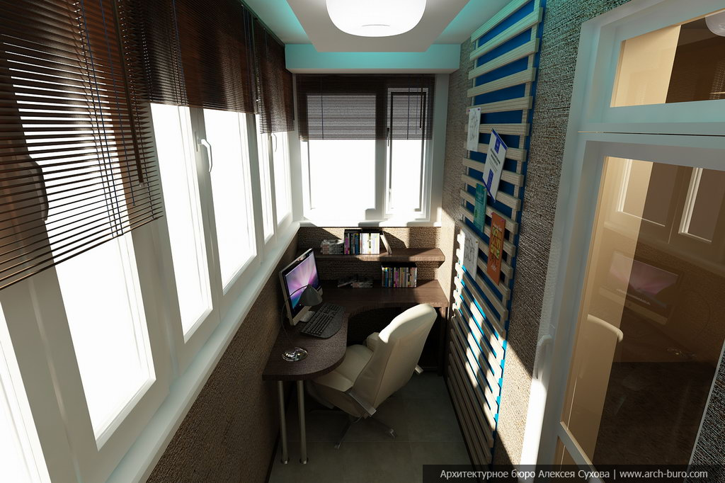 Как сделать из балкона кабинет..