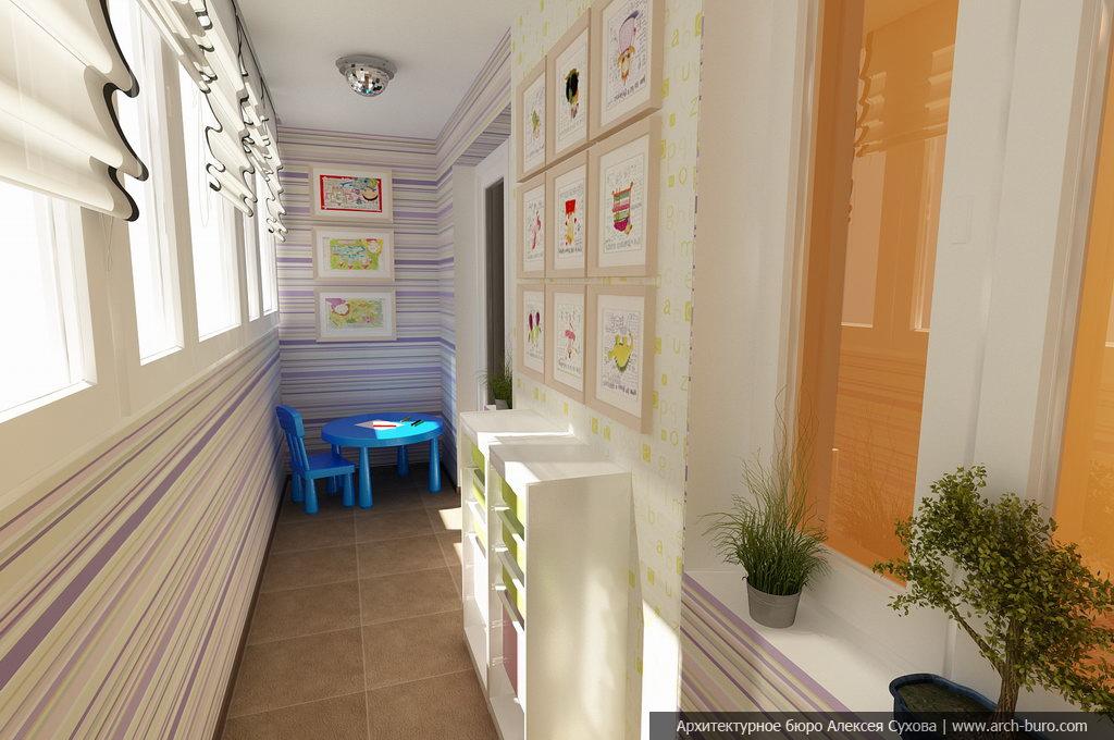 Дизайн лоджий и балконов, переоборудованных в комнату.