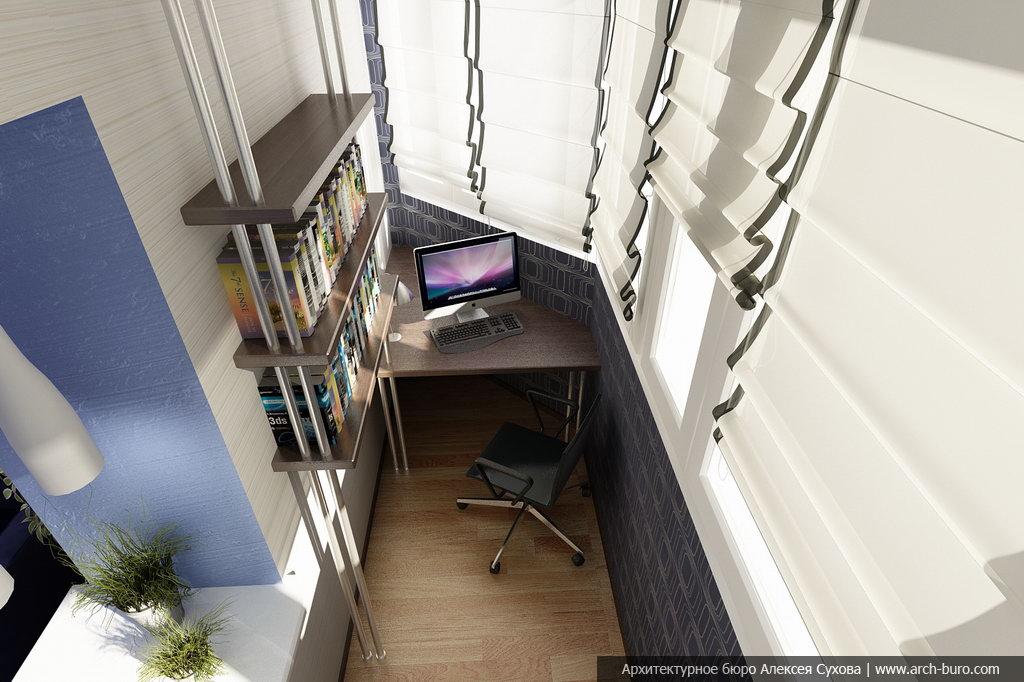 Дизайн углового балкона фото
