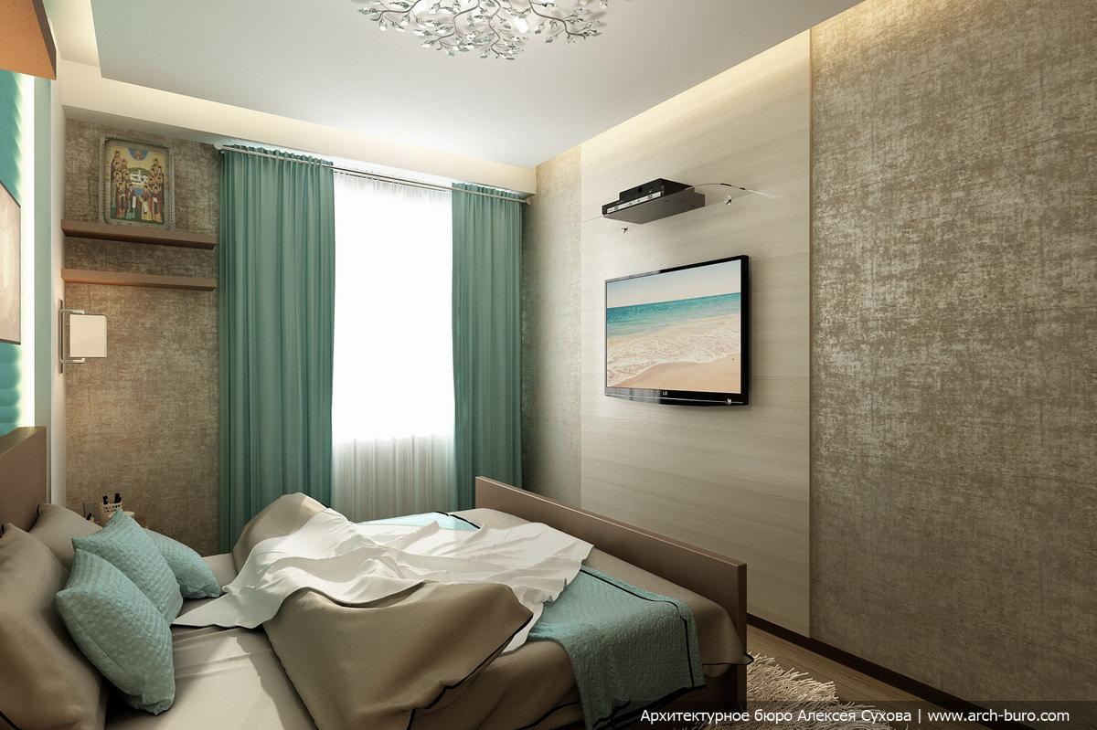 """Интерьер гостиной цвет морской волны это """" креативный дизайн."""
